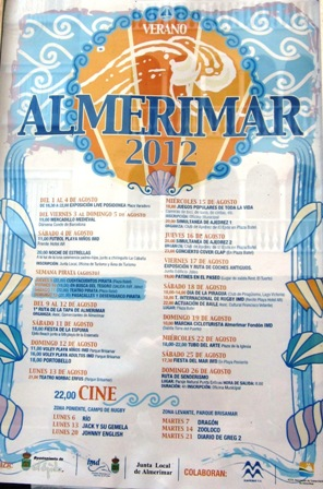 August 12 events in Almerimar