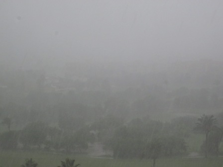 Rain in almerimar - 28 September 2012
