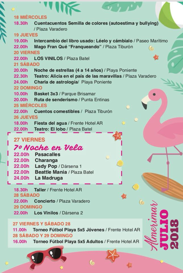 Almerimar July 2018 Events Page 3
