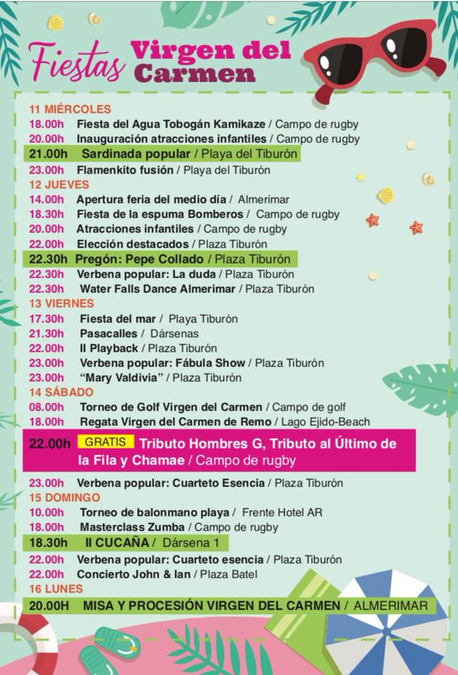Almerimar July 2018 Events Page 2