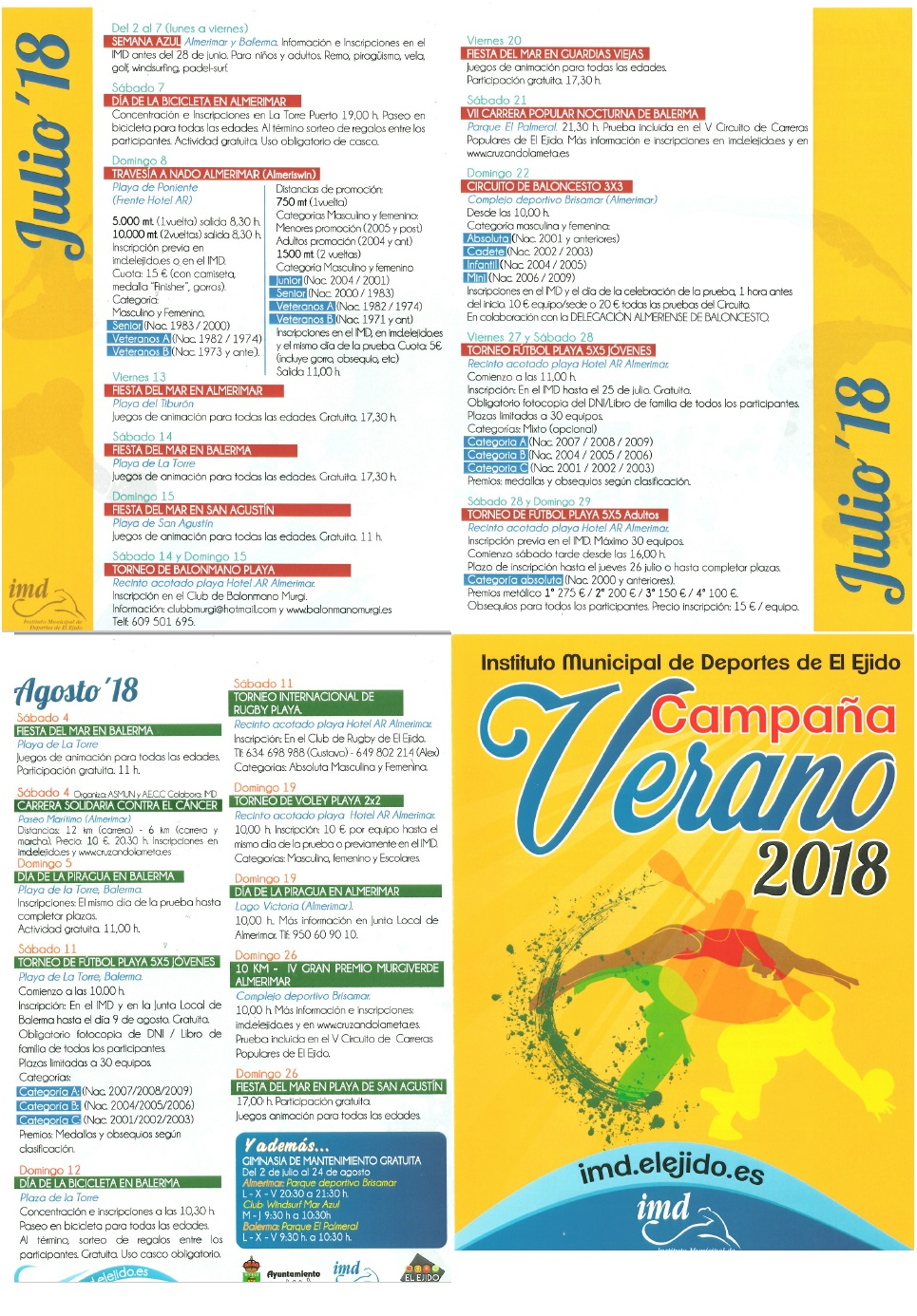 Almerimar Sports Events Summer 2018
