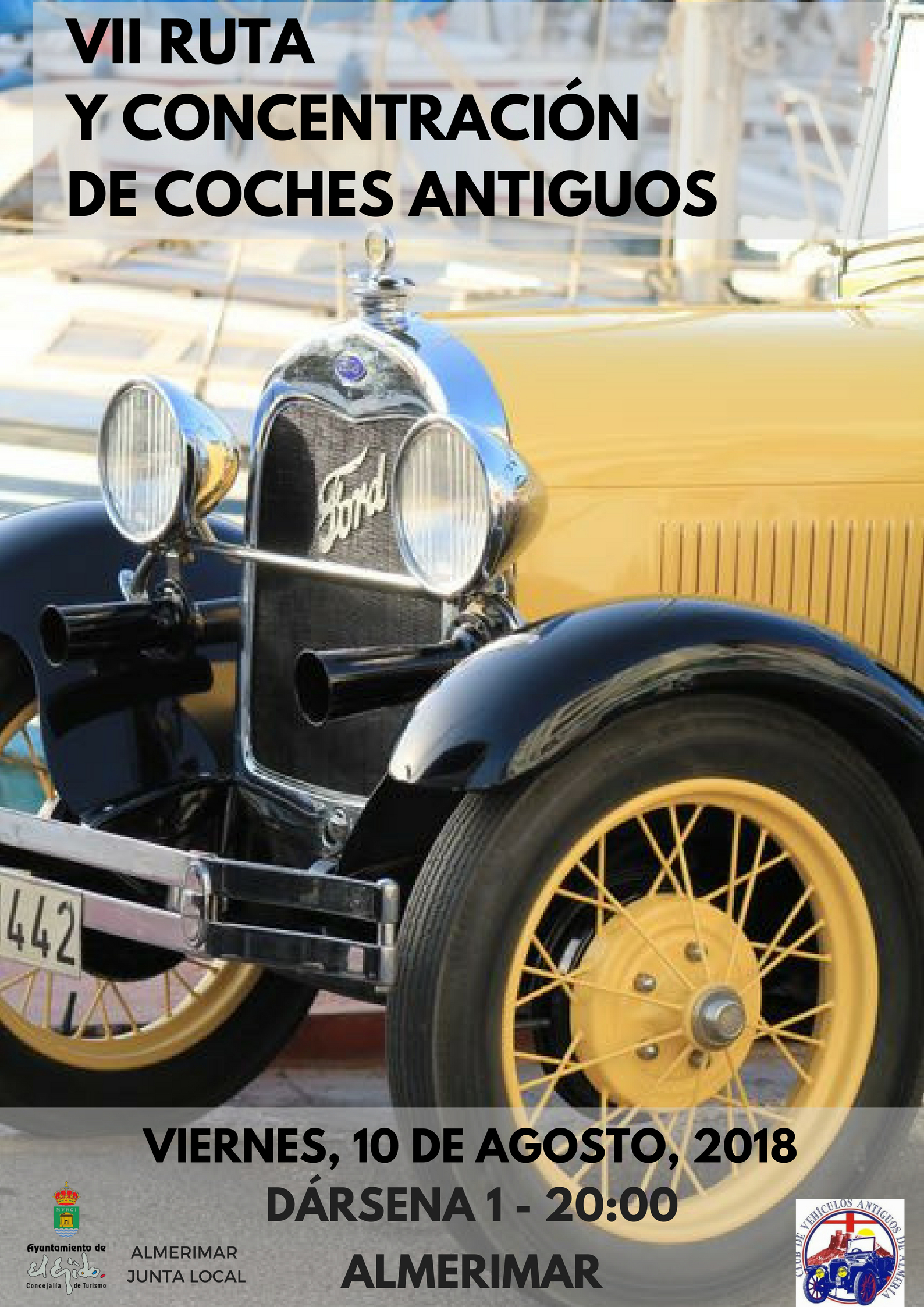 Old cars in Almerimar - 10 August 2018