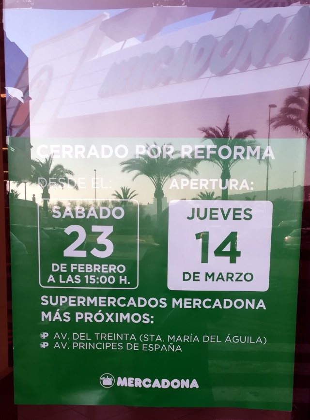 Mercadona Closed Feb 19
