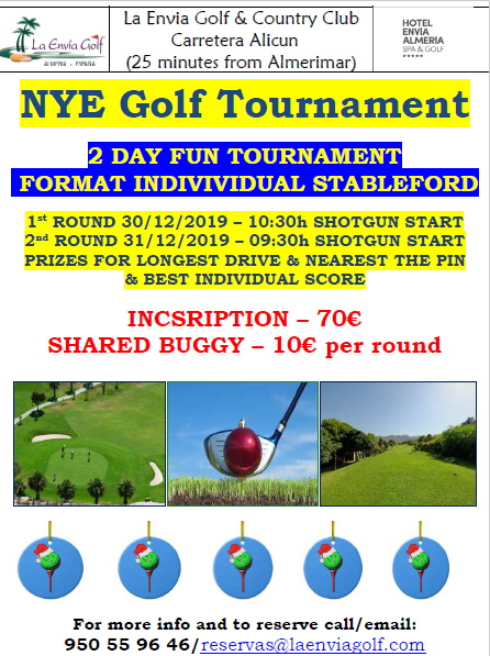 La Envia New Year Golf 2019/2020