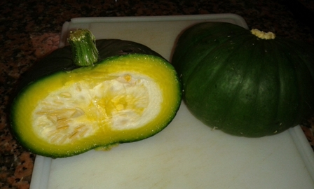 Round courgette or marrow?