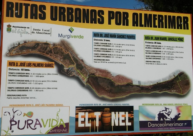 Almerimar cycle routes - January 2017