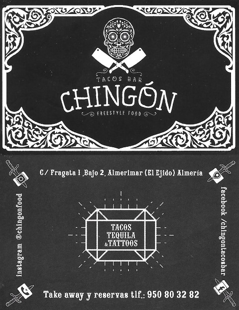 Chingón business card