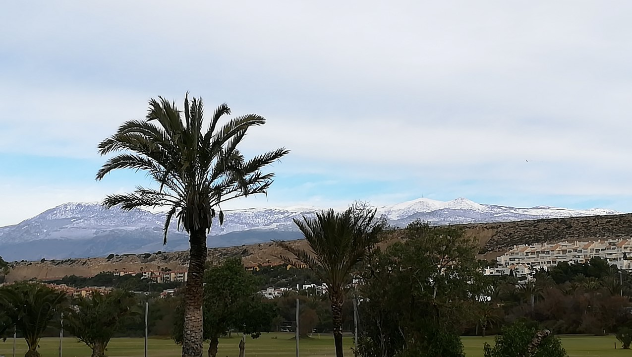 Snow on mountains - 5 February 2018