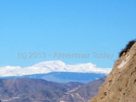 Snow on mountains - 20 December 2013